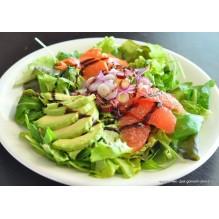 Салат с семгой, авокадо и грейпфрутом, 200 гр.