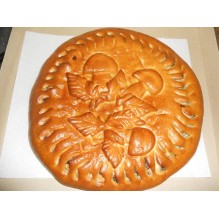 Пирог с курицей и грибами