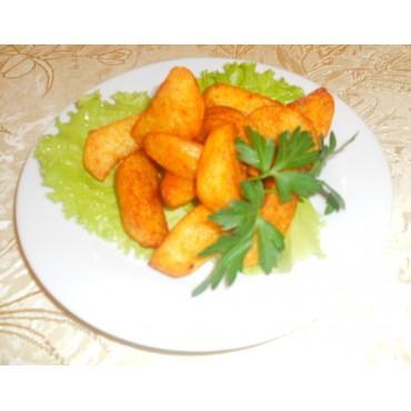 Картофель дольками печеный